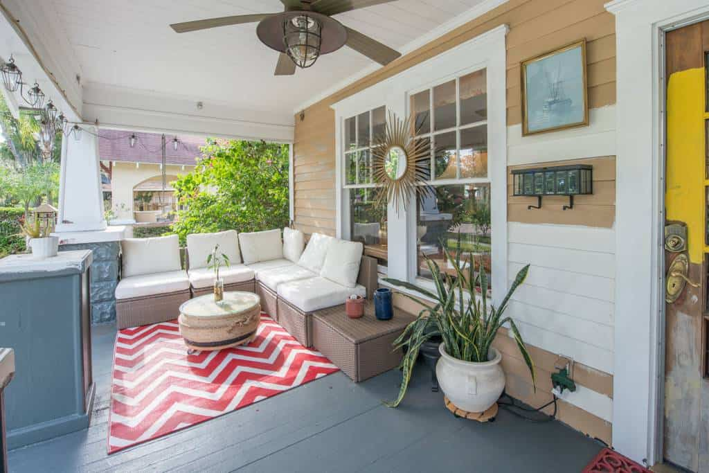 Our favorite Orlando Boho Bungalow on Airbnb