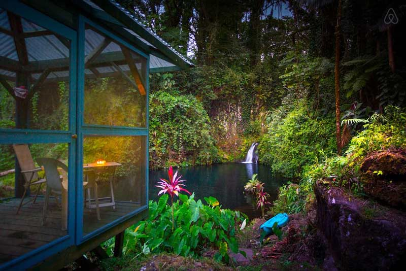 Hilo Airbnb. Located near Aloha Falls on Big Island of Hawaii