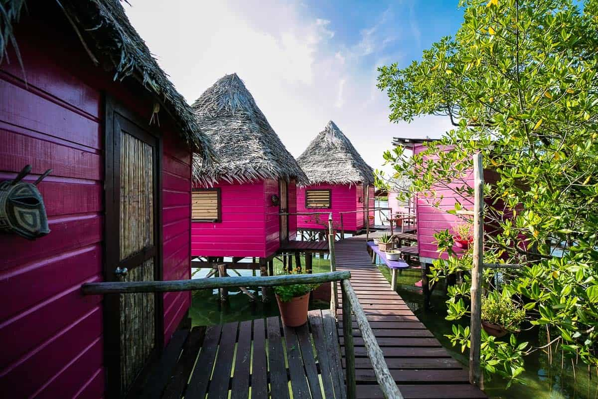 Image of overwater bungalows in Panama