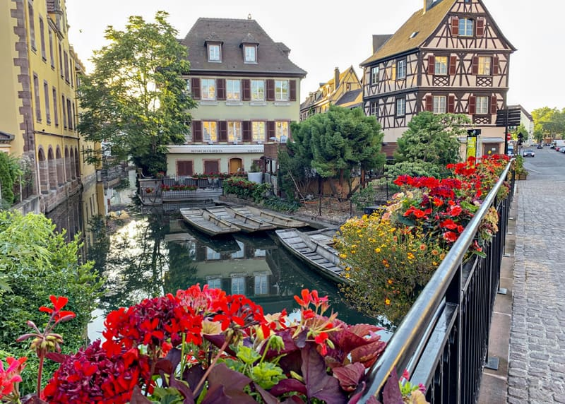 flower box and half-timber houses in Colmar France