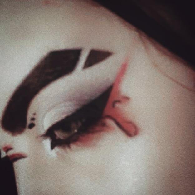 Inspirational image of eyebrow slits trend.