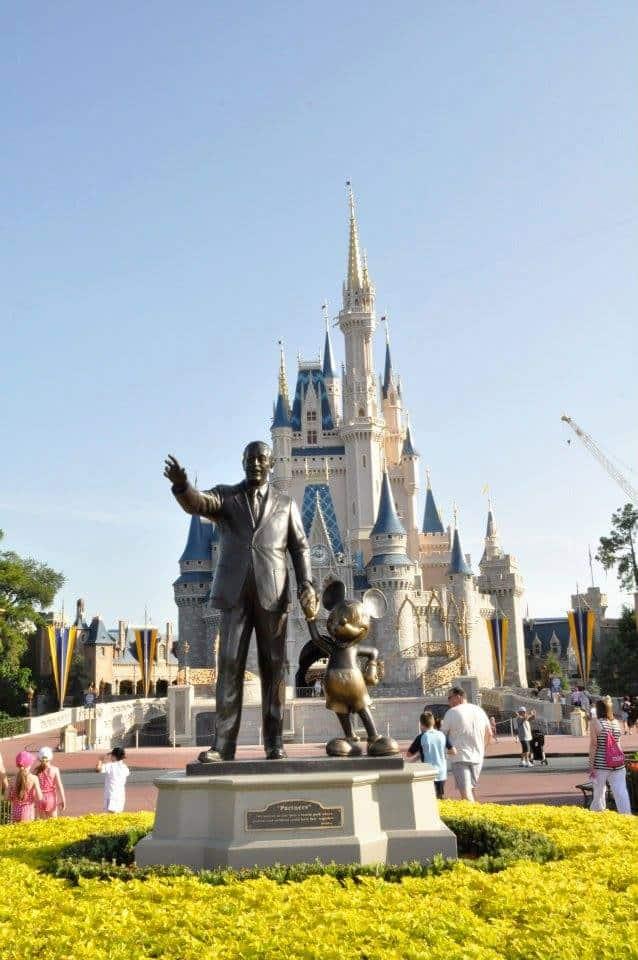 Statue of Walt Disney & Mickey Mouse at Walt Disney World