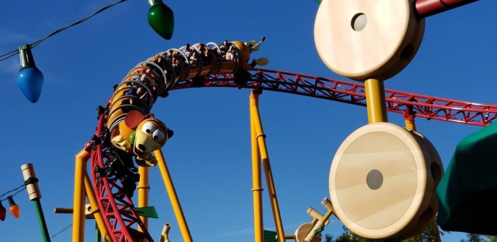 Slinky Dog ride at Hollywood Studios Orlando