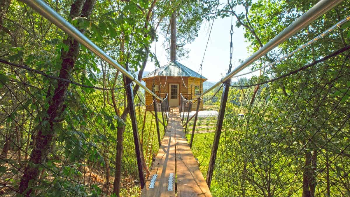 Image of treehouse rental in Oregon