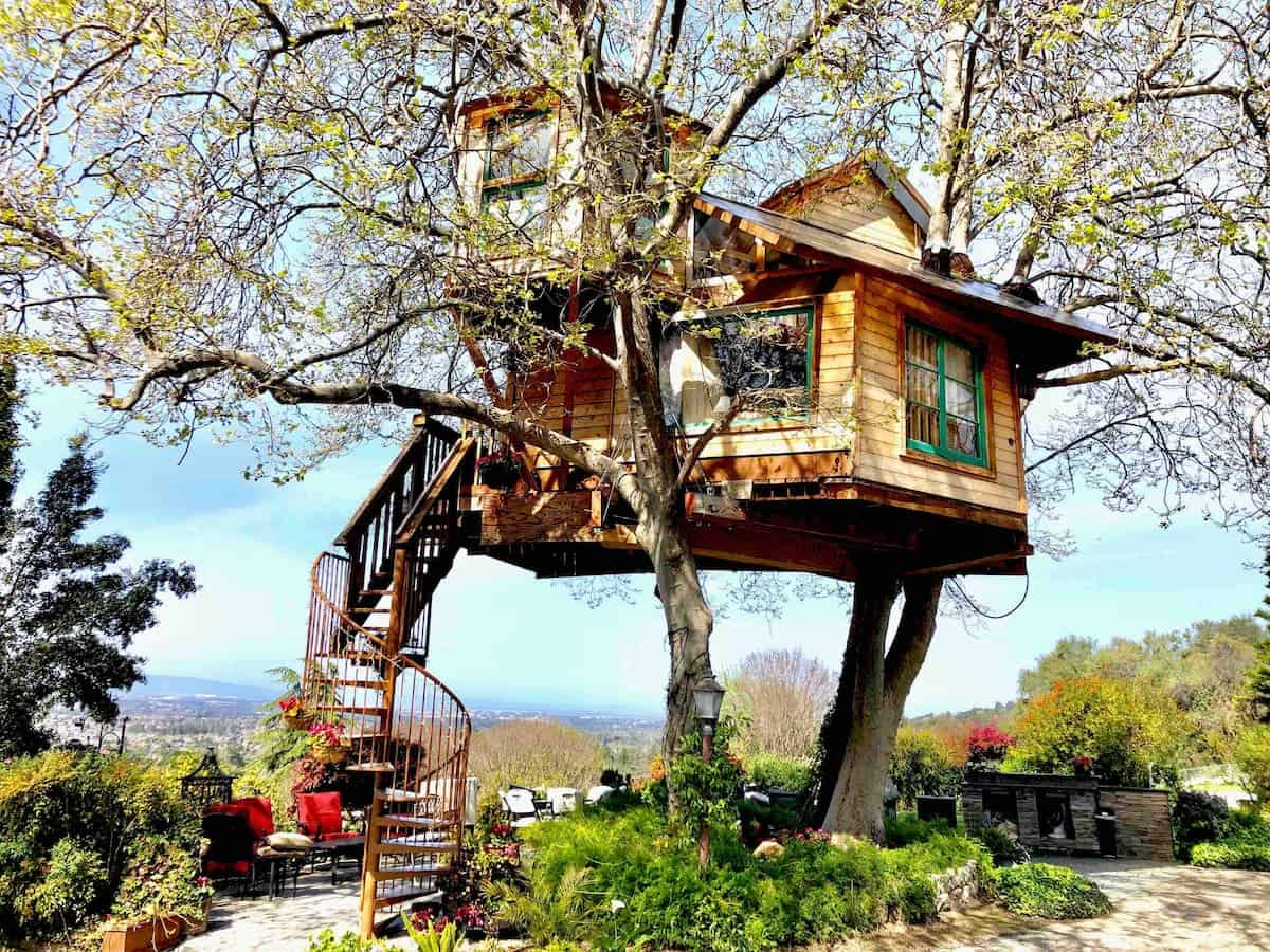 Image of treehouse rental in California