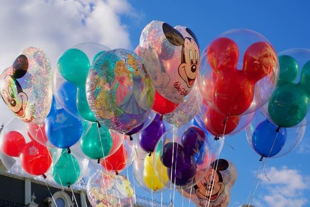Balloons at theme park in Orlando Florida