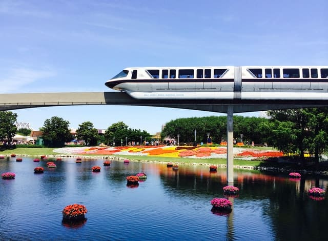Monorail at Epcot in Orlando Florida