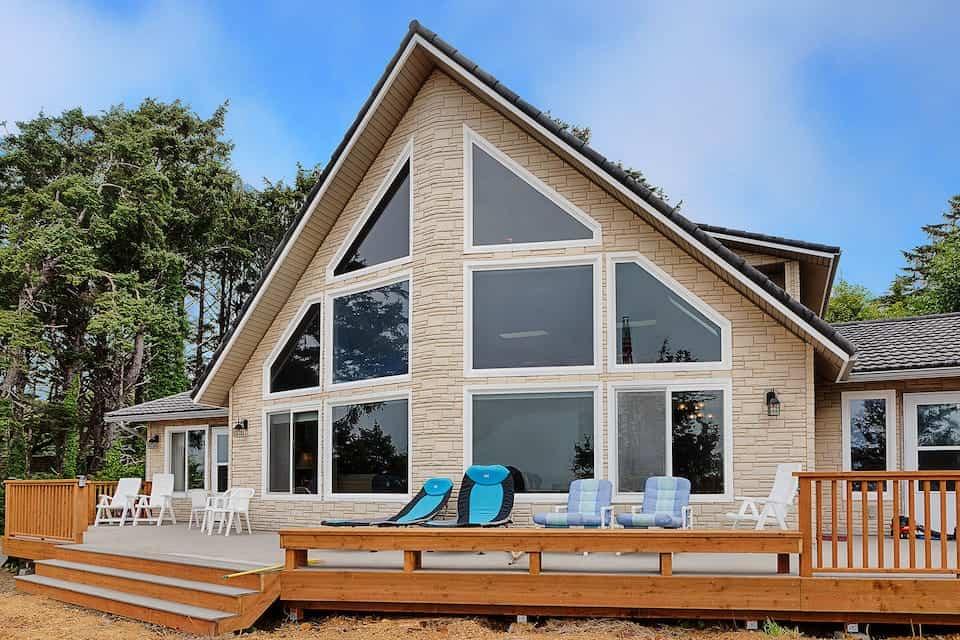 Image of beachfront rental in