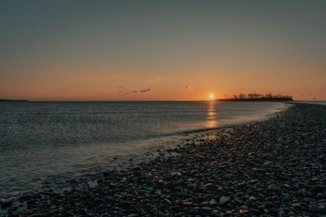 Connecticut coast sunset