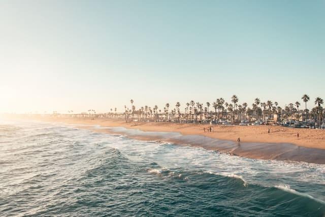 Beachfront in California coast