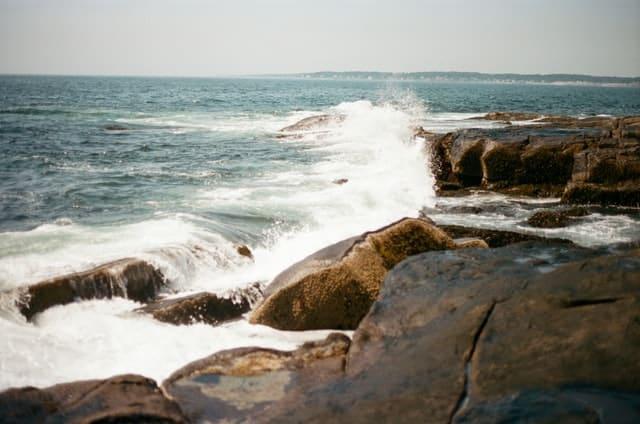 Beachfront at Maine
